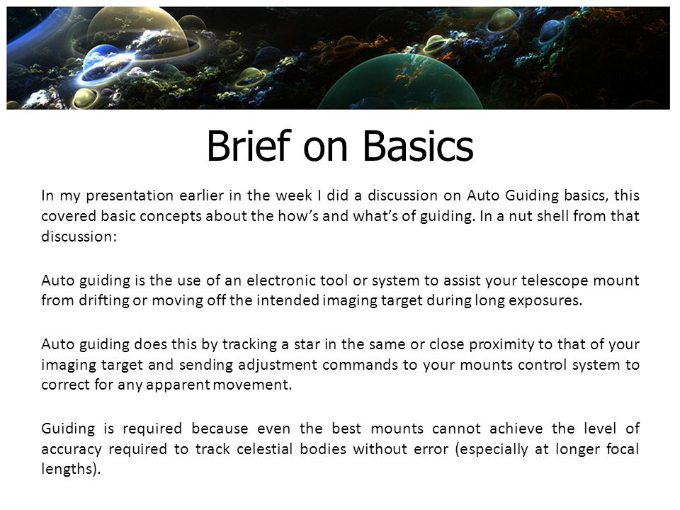 Brief on Basics