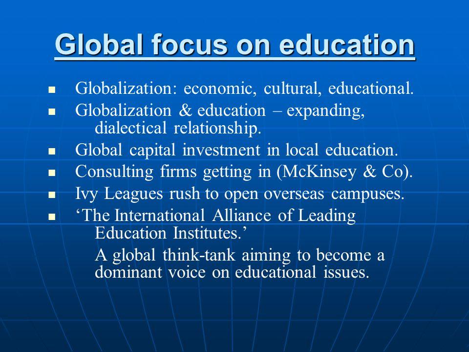Global focus on education