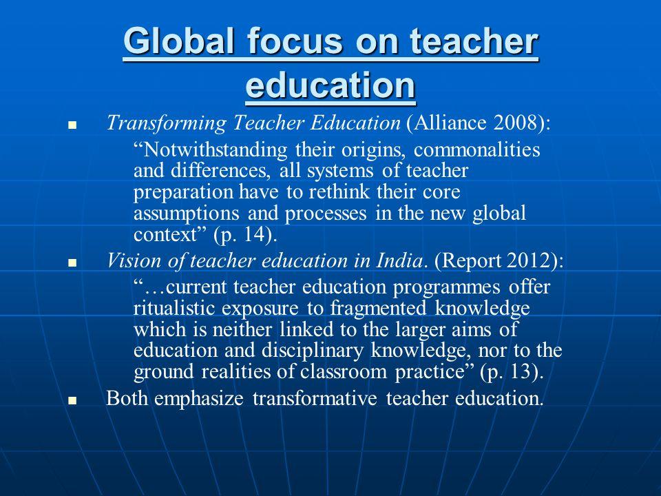 Global focus on teacher education