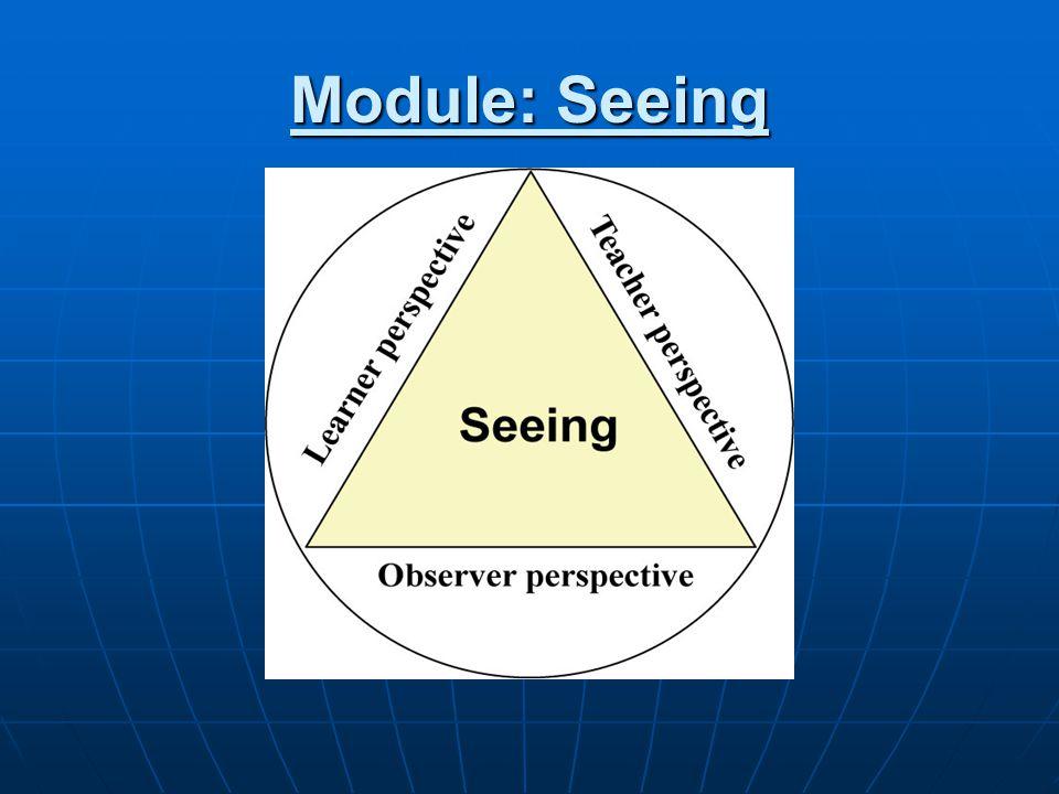 Module: Seeing