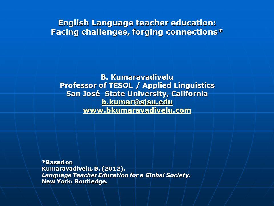 English Language teacher education: