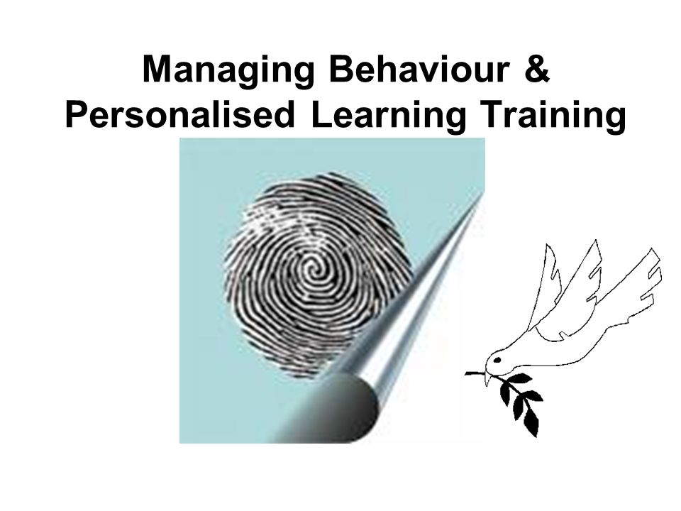 Managing Behaviour & Personalised Learning Training