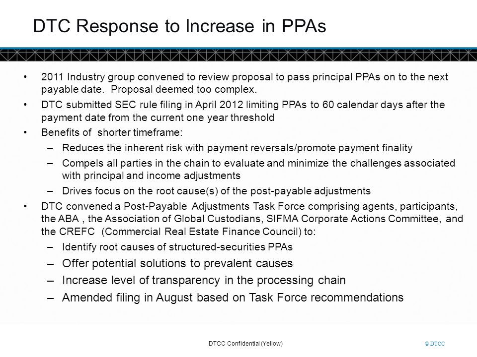 DTC Response to Increase in PPAs