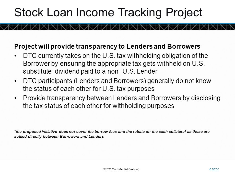 Stock Loan Income Tracking Project