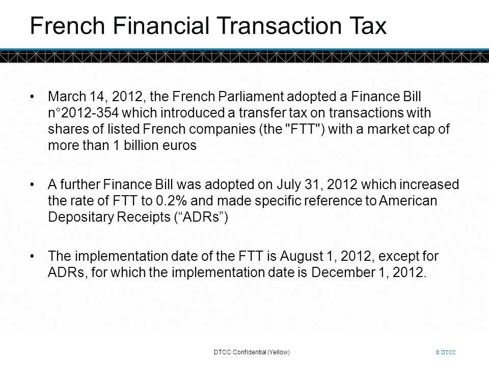 French Financial Transaction Tax