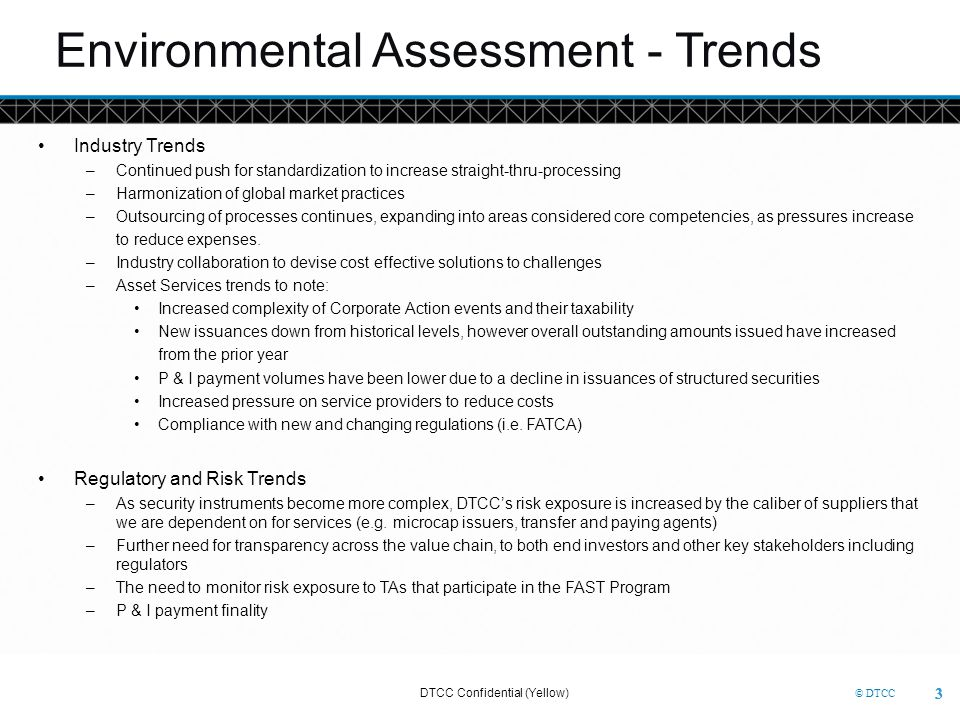 Environmental Assessment - Trends