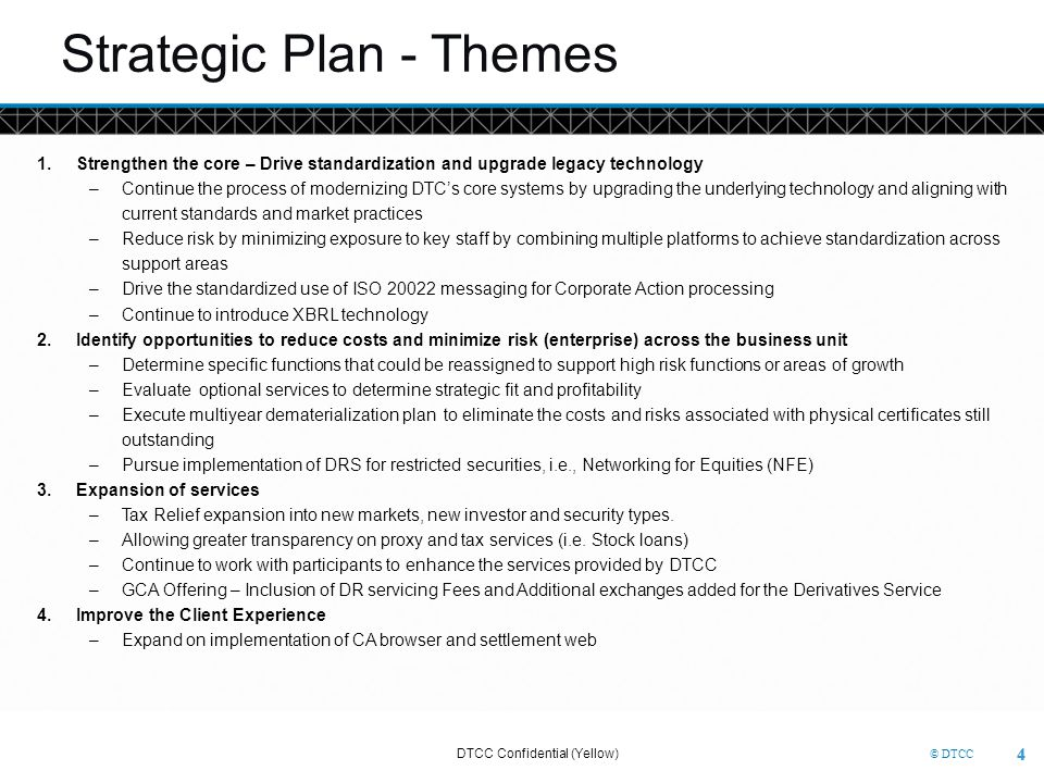 Strategic Plan - Themes