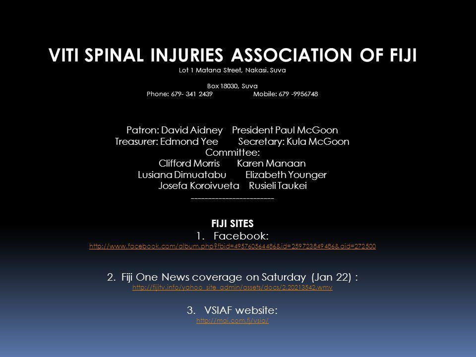 VITI SPINAL INJURIES ASSOCIATION OF FIJI