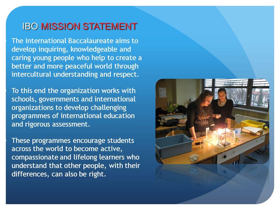 IBO MISSION STATEMENT