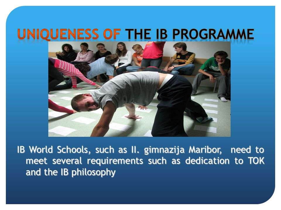 Uniqueness of the IB programme