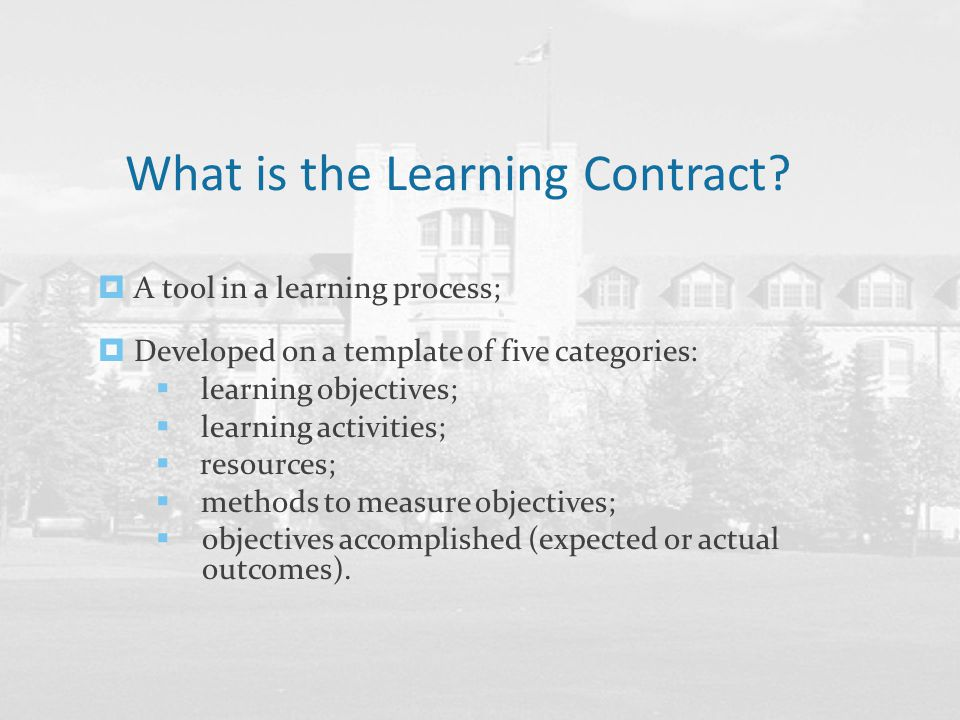 Befriending Your Learning Contract  Ppt Download