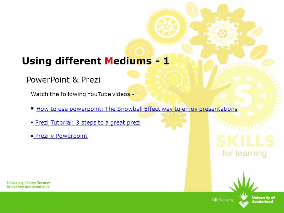 Using different Mediums - 1