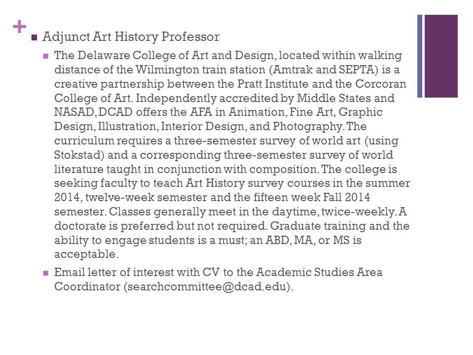 Adjunct Art History Professor