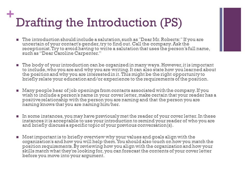 Writing effective cover letters ppt video online download for Cover letter for drafting position