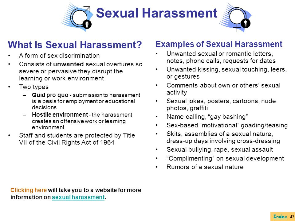 Sexual Harassment What Is Sexual Harassment