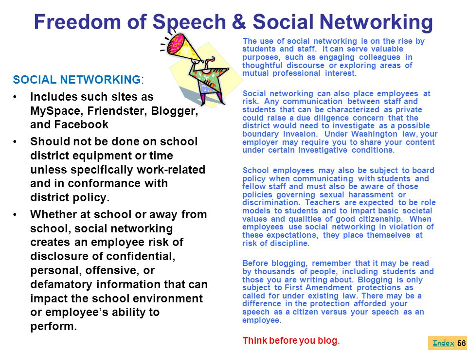 Freedom of Speech & Social Networking