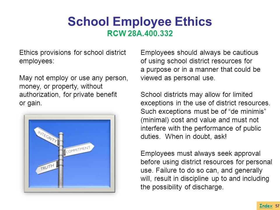 School Employee Ethics RCW 28A.400.332