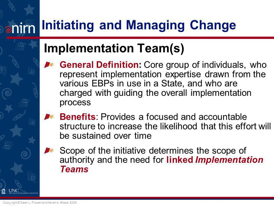 Initiating and Managing Change