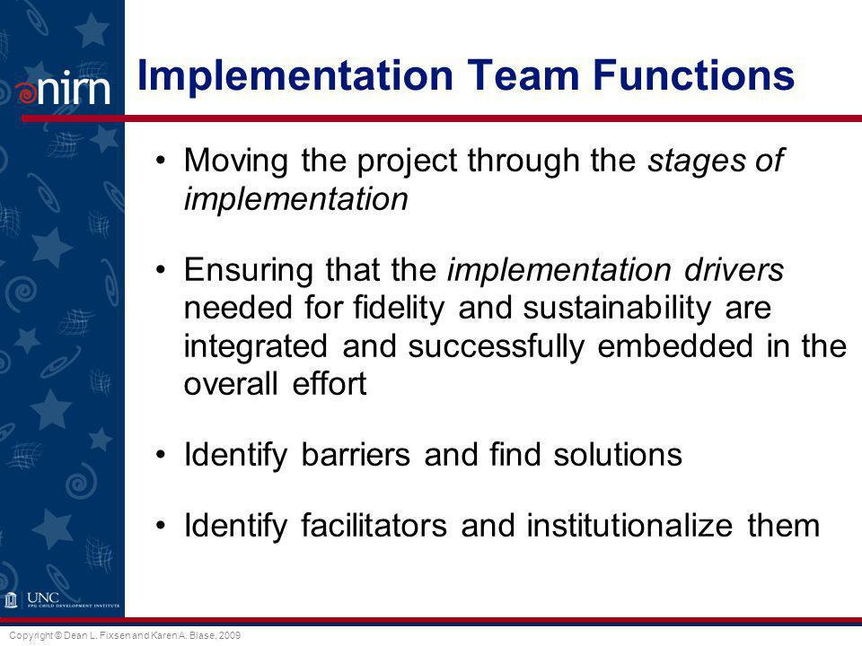 Implementation Team Functions