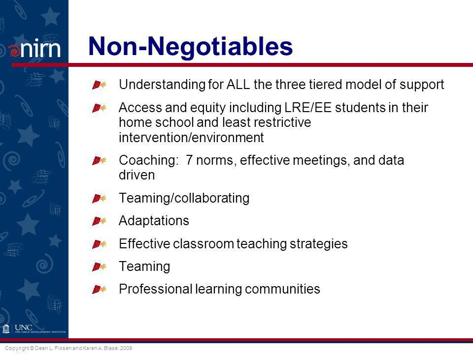 Non-Negotiables Understanding for ALL the three tiered model of support.