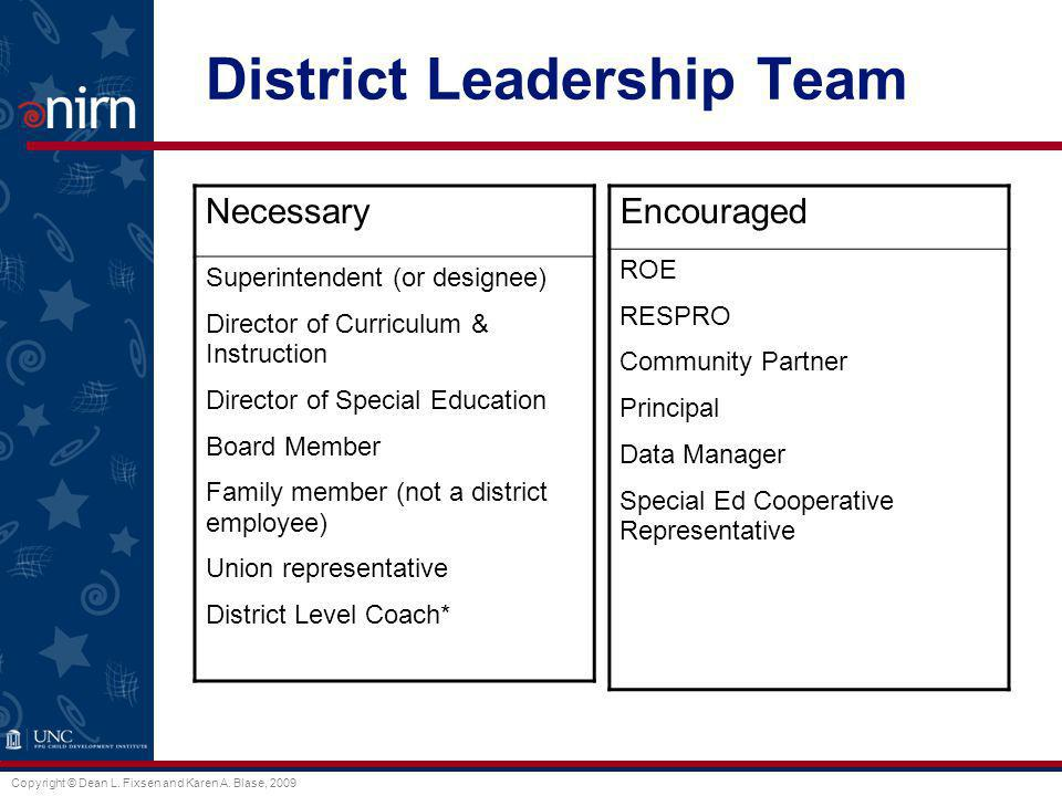 District Leadership Team