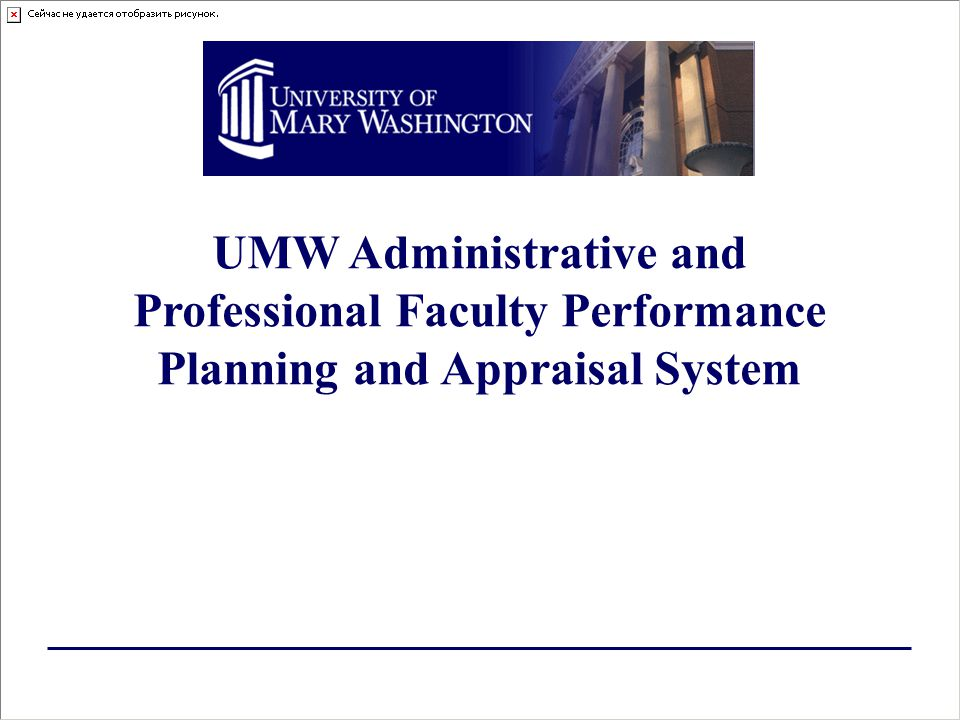 UMW Administrative and Professional Faculty Performance Planning and Appraisal System