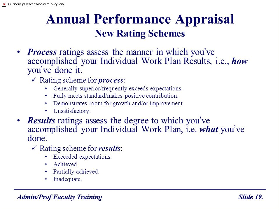 Annual Performance Appraisal New Rating Schemes