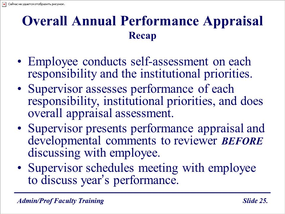 Overall Annual Performance Appraisal Recap