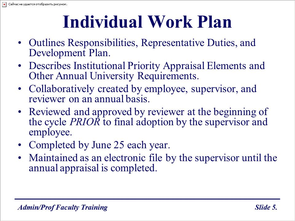 Individual Work Plan Outlines Responsibilities, Representative Duties, and Development Plan.