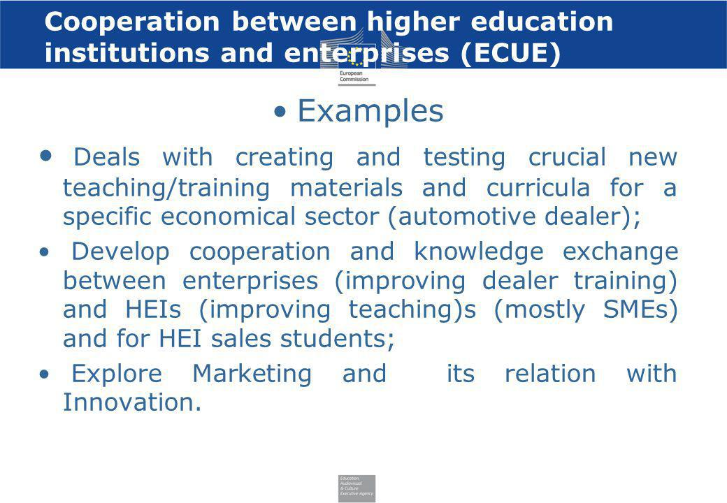 Cooperation between higher education institutions and enterprises (ECUE)
