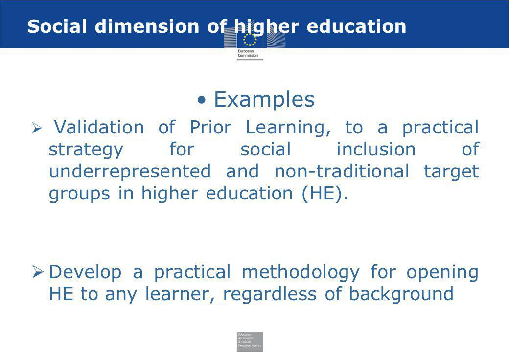 Social dimension of higher education