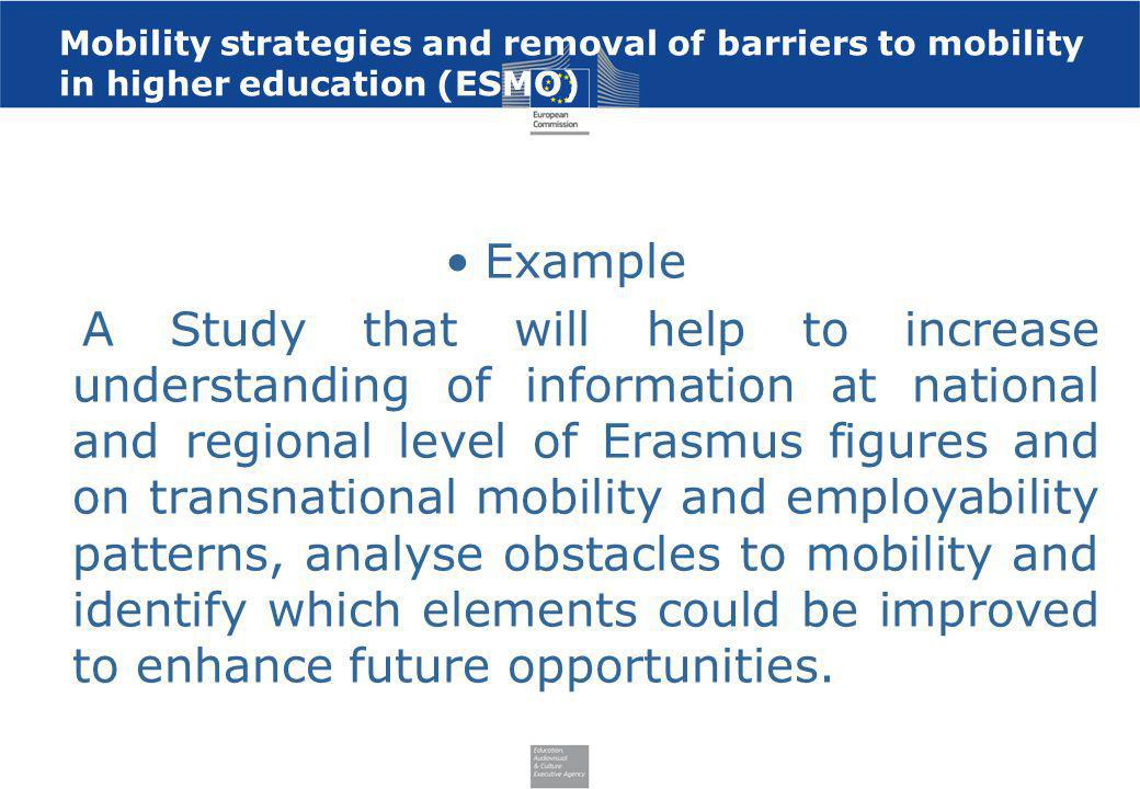 Mobility strategies and removal of barriers to mobility in higher education (ESMO)