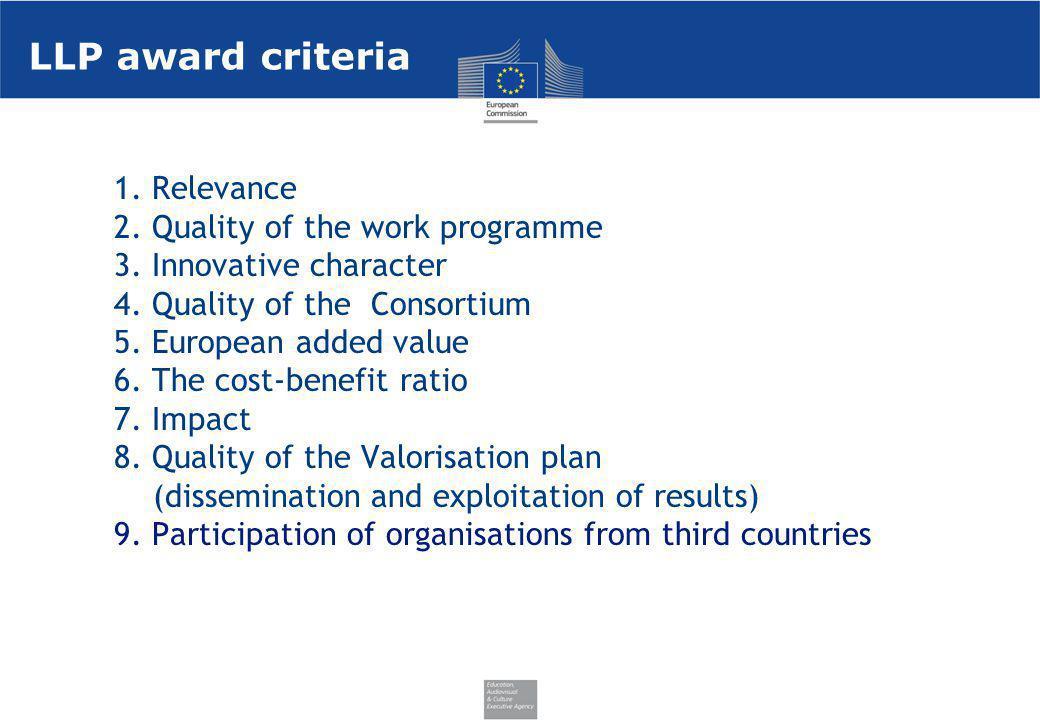 LLP award criteria