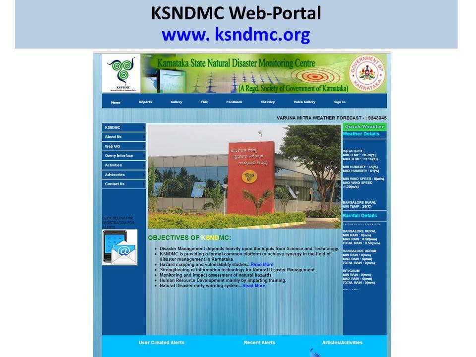 KSNDMC Web-Portal www. ksndmc.org