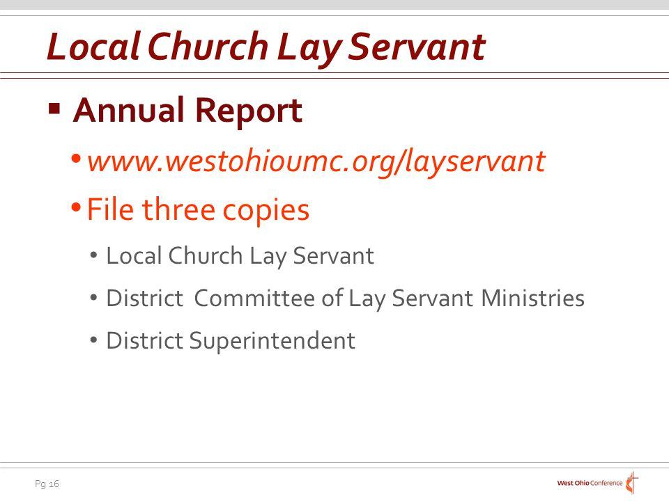Local Church Lay Servant