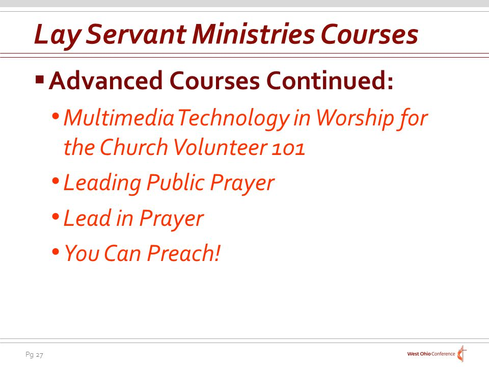 Lay Servant Ministries Courses