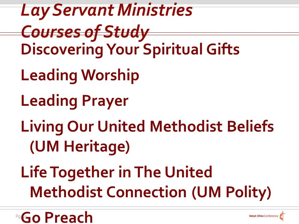 Lay Servant Ministries Courses of Study