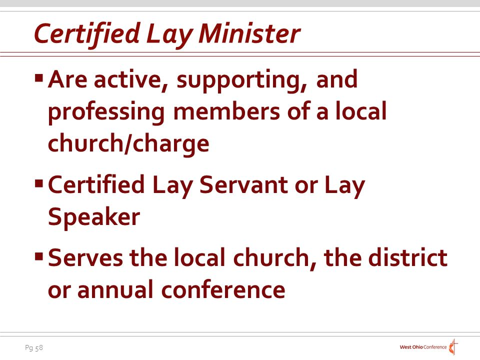 Certified Lay Minister