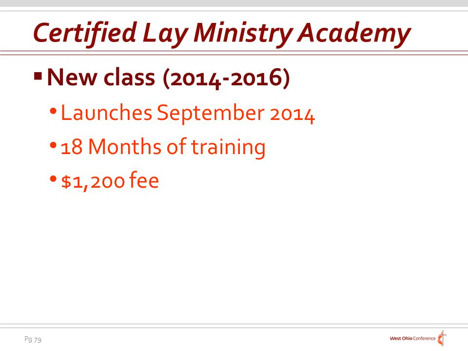 Certified Lay Ministry Academy