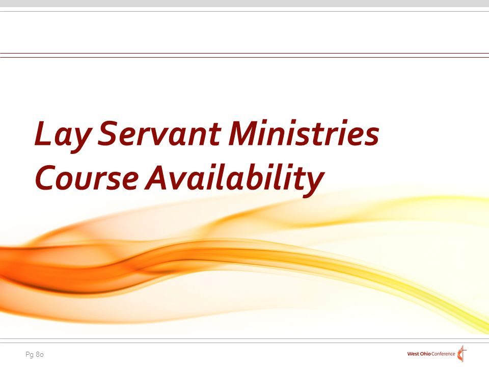 Lay Servant Ministries Course Availability