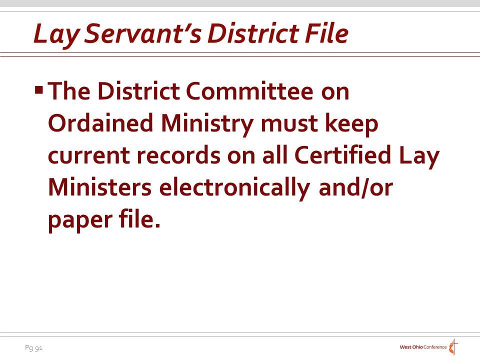 Lay Servant's District File