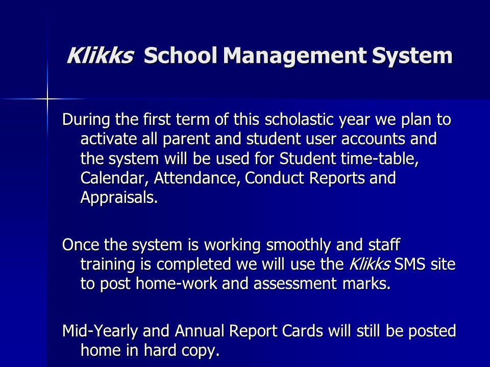 Klikks School Management System