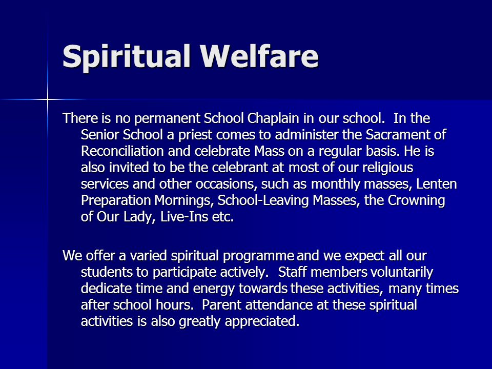 Spiritual Welfare