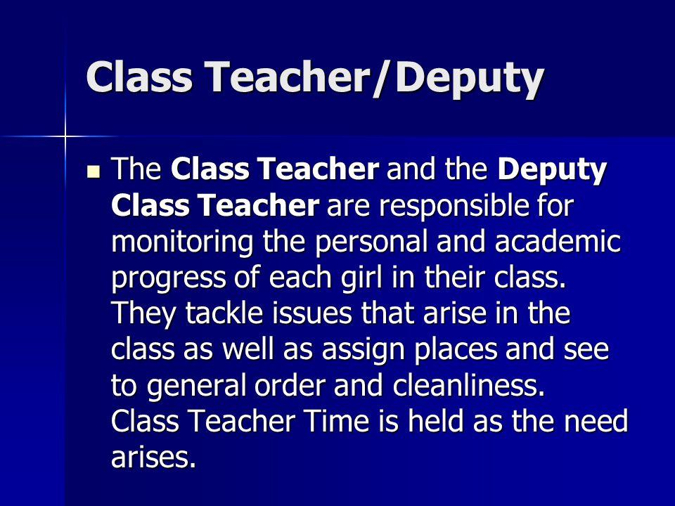 Class Teacher/Deputy