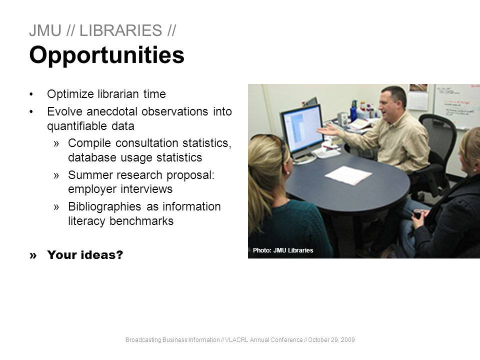 JMU // LIBRARIES // Opportunities