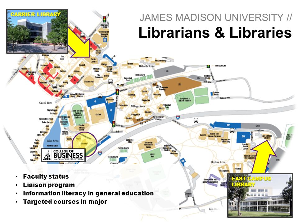 JAMES MADISON UNIVERSITY // Librarians & Libraries