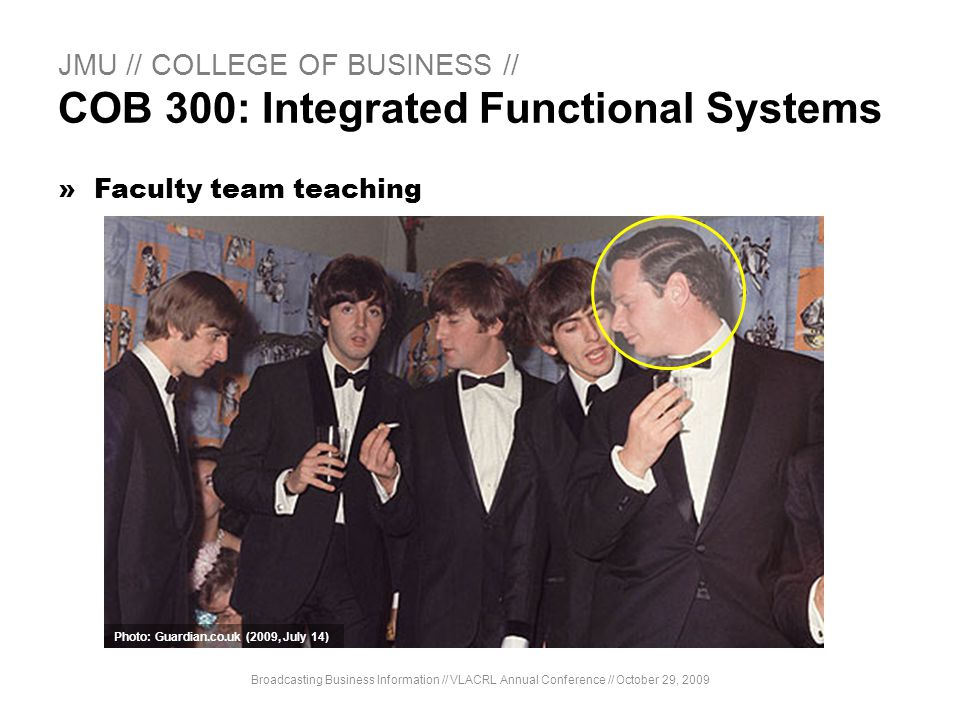 JMU // COLLEGE OF BUSINESS // COB 300: Integrated Functional Systems