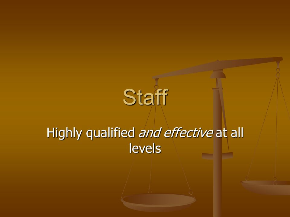 Highly qualified and effective at all levels