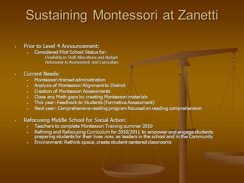 Sustaining Montessori at Zanetti