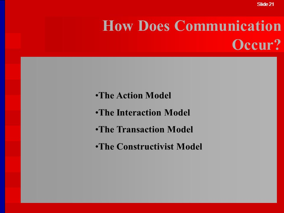 How Does Communication Occur